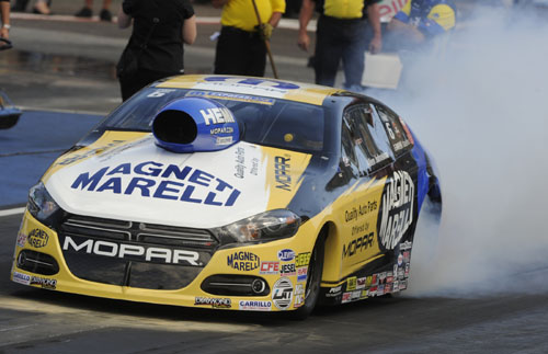 Allen Johnson's amazing domination in Pro Stock events at Denver - ended in the final round.