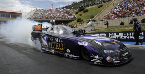 Jack Beckman continued DSR's season dominance of NHRA FC class racing