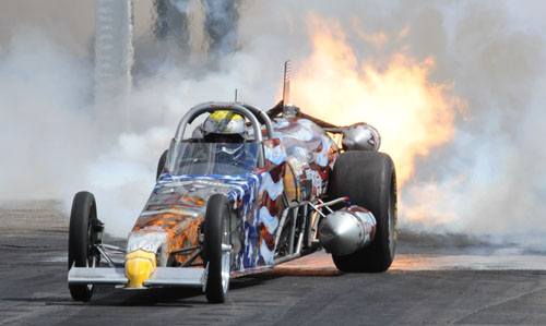 Kat Moller won over three other jet dragsters
