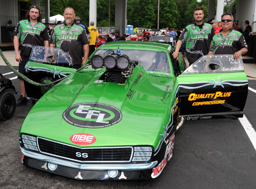 "Eric Latino's ""Team Green"" Pro Mod effort is buoyed by a very talented supporting staff!"
