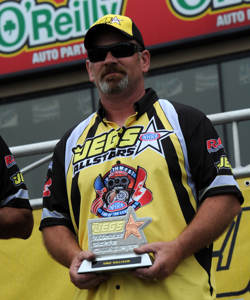 Mike Williams was the NHRA Division 6 TS representative for the Jegs All Stars event