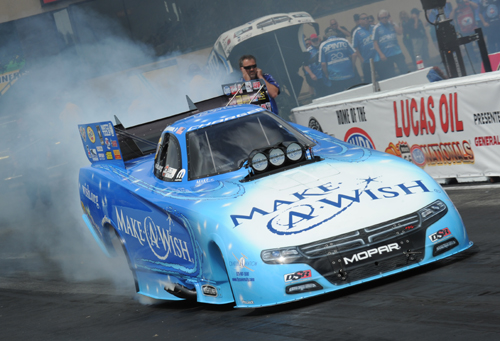 Tommy Johnson Jr drove the DSR Make A Wish Foundation Charger to victory in fuel FC.