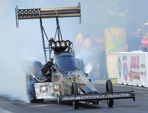 Chicago native Tony Schumacher won for the 5th time in Top Fuel at Route 66 Raceway