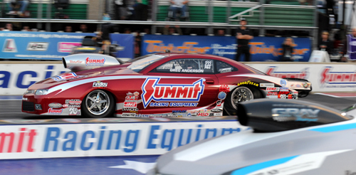 Greg Anderson has moved into the NHRA Mello Yello Pro Stock points lead.