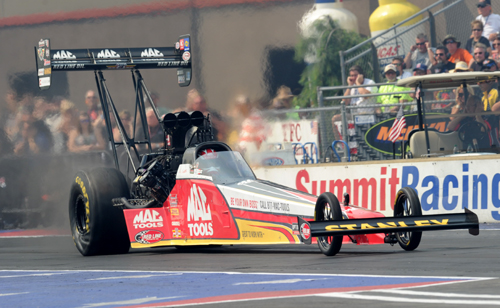 Doug Kalitta won for the first time this season in Top Fuel