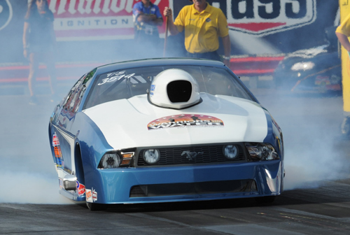 Tim Weise took his nitrous-injected Mustang to a huge win in TS