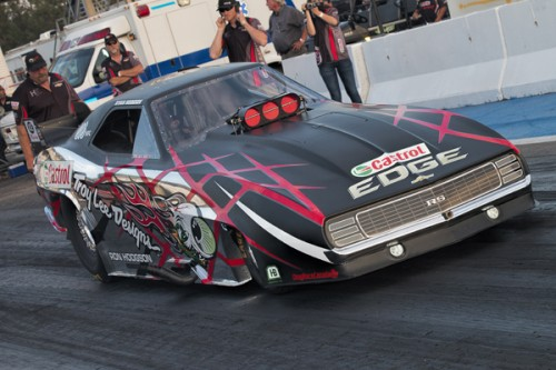The absolutely awesome TLD Funny Car driven by Ryan Hodgson did some more testing