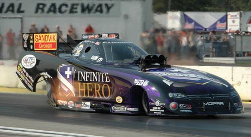 For the 3rd time this summer - Jack Beckman reset the NHRA national ET record for Funny Cars!