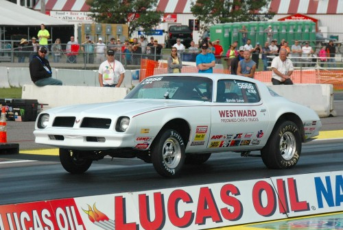 Kevin Love (from Portage La Prairie MB) qualified his K/SA '76 Firebird #11 in Stock eliminator.