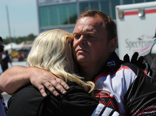 Wade consoles Suzy after her wild ride today.