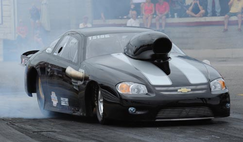 Fred DeJonge qualified #1 in TS driving his uber cool turbocharged Cobalt at 6.35 secs at almost 240 mph!