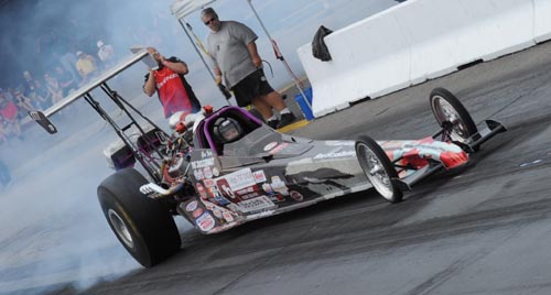 Glen Varney's Pro-charger dragster won the T/D class