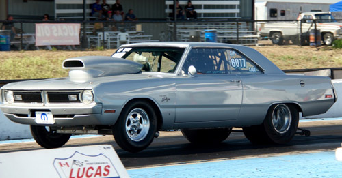 Regina's Ken Daley won in Pro ET on Sunday with his super clean '71 Dart