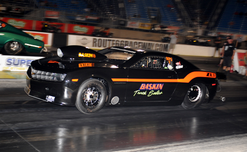 Don Baskin's late model Camaro prevailed in the APR Nitrous Pro Street class