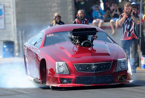 IHRA Pro Mod points leader Dina Parise - made her first ever Canadian appearance with her awesome Cadillac CTSV!