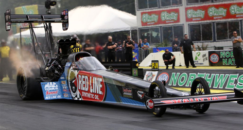 J.R. Todd won for Kalitta Motorsports in Top Fuel