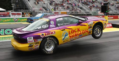 Alberta's Casey Plaizier raced his '96 Firebird as a SS/KA car at Seattle and won three rounds of Super Stock.