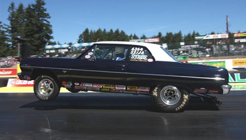 Darrell Strobbe raced his truly immaculate SS/JA '64 Chevelle to the third round in Super Stock.