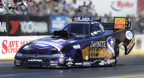Jack Beckman roared to another impressive victory in NHRA Funny Car