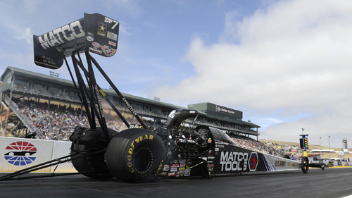 Antron Brown won for the 4th time in 2015 in Top Fueld