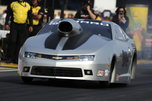 Chris McGaha drove his Chevy Camaro to his first NHRA Pro Stock event title.