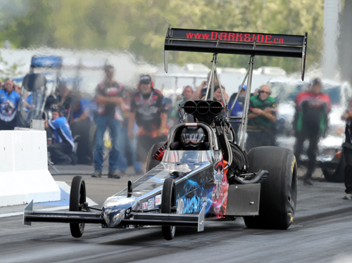 (The Darkside Racing TF dragster in action at Castrol Raceway last summer)