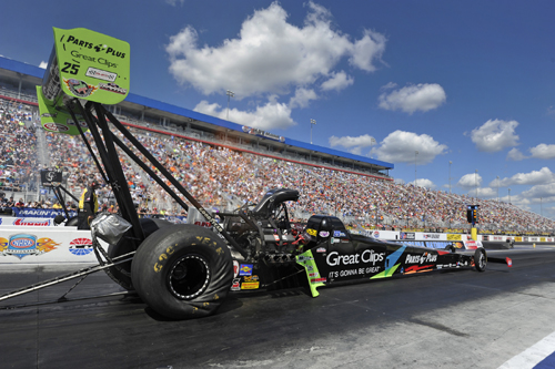 Clay Millican qualified #1 in Top Fuel