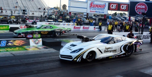 The Pro Mod final featured two Canadian native racer - Danny Rowe versus Eric Latino