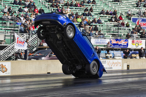 Adam Bastarache (from Georgetown ON) rode out this truly significant wheel stand in X275 class racing!