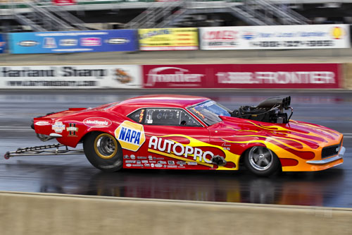 Spencer Hyde entered his awesome Napa-sponsored Camaro in Top Sportsman.