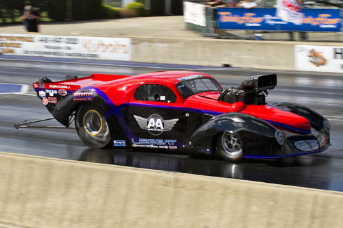 Hamilton's Bruce Boland was rewarded with a career quick and fast 5.792 secs at 248.89 mph - which qualified #2.