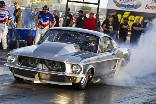 Frank Pompilio (from King City) - the defending 2014 Shakedown Champion went to the Outlaw 10.5 final round again.