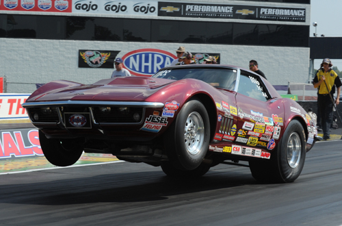 John Armstrong's awesome 427 Corvette qualified -.896 but lost out in round #2 of Super Stock