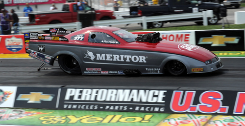 Paul Noakes entered the Meritor Mustang in TAFC at Indy - but after qualifying #14 - had the car break in round one.