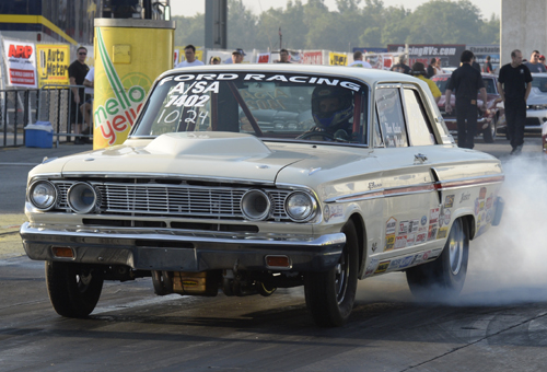Alberta's Tom Nolan entered both his cars at Indy - driving his 2009 G5 in Super Stock and the Tibor Kadar driven A/SA '64 Fairlane in Stock.