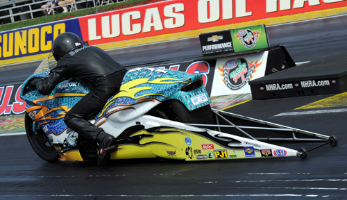 Louisiana's Jerry Savoie prevaled in Pro Stock Motorcycle