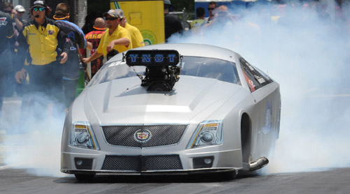 Racing his '15 Cadillac - Steven Whiteley qualified #1 and set low ET
