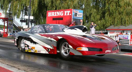 A rare appearance by Jamie Tupper's beautiful Top Sportsman Corvette