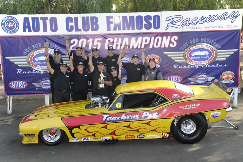 Steven Densham's team clinched the overall NHRA Hot Rod Heritage Series points title