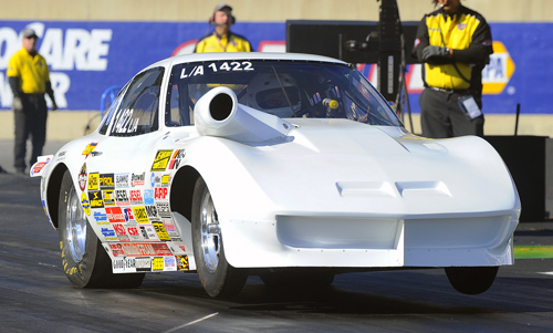 Nova Scotia's Allyn Armstrong broke through to win his first NHRA national event title.