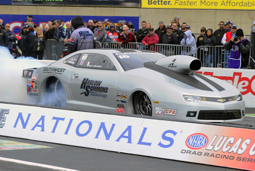 Rising Pro Stock power Chris McGaha won for the 3rd time this season.