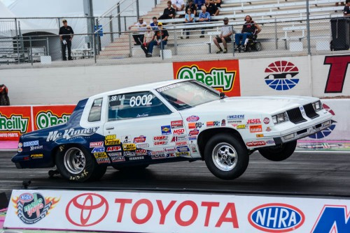 BC's Rick McKinney qualified his '84 Cutlass SS/LA at -.631 and advanced to the second round.