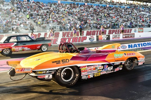 Racing his Corvette, Alberta's Eddy Plaizier had the best finish for all Canadian drivers at the Las Vegas National event - narrowly losing the S/G final (10.037 to 10.038 secs)!
