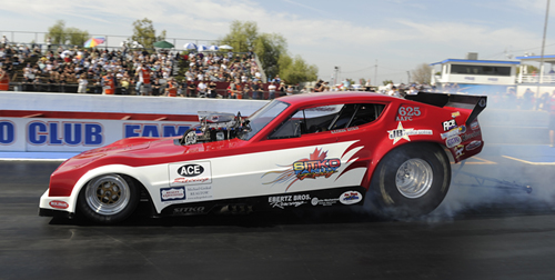 Nathan and his Dad Kenny Sitko got some well deserved performance results -- running a career quick and fast 5.819 secs at 251 mph to qualify their Arrow #12 in the NFC class!