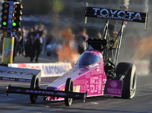 Antron Brown has secured the 2015 NHRA Mello Yello Top Fuel championship.