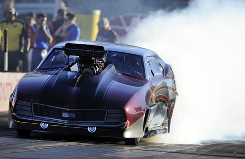Khalid alBalooshi became the 10th different winner in 10 NHRA Pro Mod races this season