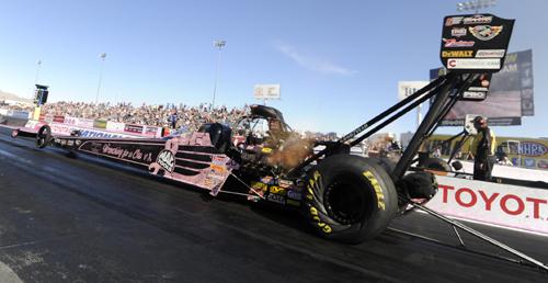 The event's Top Fuel winner - Doug Kalitta