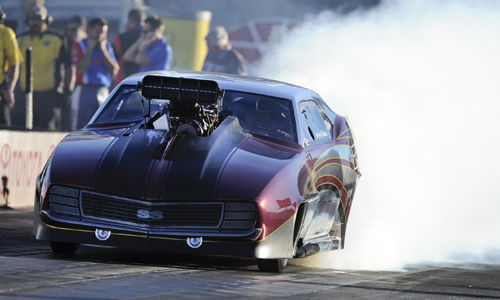 Kahlid al Balooshi prevailed to win the season finale event for NHRA's J&A Pro Mod Series