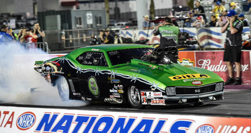 Eric Latino (from Whitby Ontario) was the only Canadian driver to qualify in Pro Mod at Las Vegas