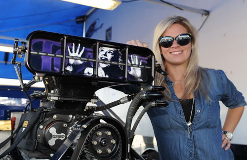 Melanie Salemi is Canada's first fully licensed female Pro Mod class driver.